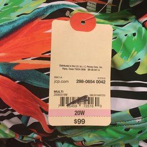 St. John's Bay Swim - NWT St. John's Bay tropical print swimsuit